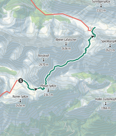 Map / Übergang Pfeishütte zum Halleranger Haus