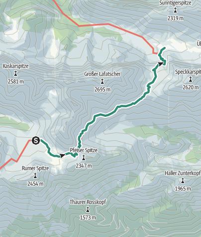 Mapa / Übergang Pfeishütte zum Halleranger Haus
