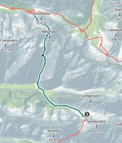 Map / Übergang Hallerangerhaus zum Karwendelhaus