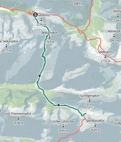 Map / Übergang Karwendelhaus zum Hallerangerhaus