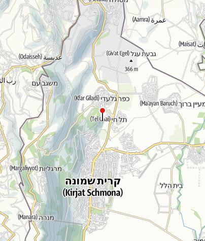 מפה / חצר תל חי