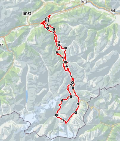 Karte / Ötztaler Urweg