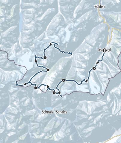 Map / Ötztal Loop Tour