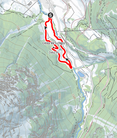 Karte / Vitaparcours Bergün