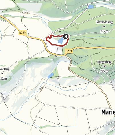 Karte / GPS Lehrpfad Holz in Marienmünster
