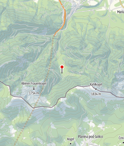 Karte / Bärenhütte im Bärengraben an der Weg-Nummer 603A