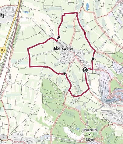 Karte / Rundweg Ebersweier 1