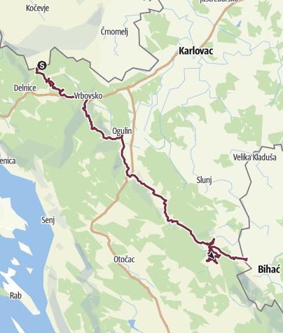 Map / MY Via Dinarica Green Trail | CROATIA