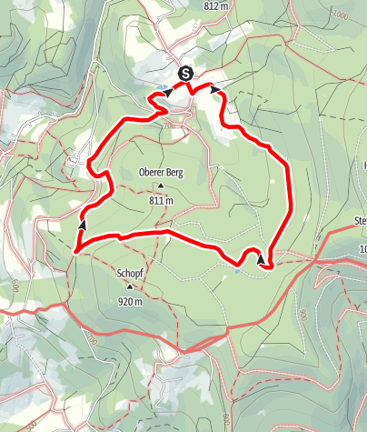 Karte / Mühlgrabenweg über Kostenz von Rettenbach