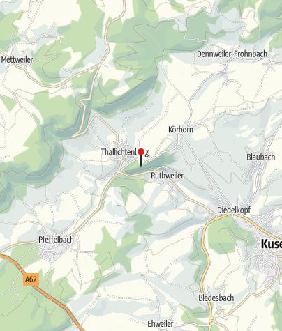 Karte / Burg Lichtenberg / Thallichtenberg