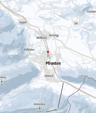 Karte / Eisklettern im wilden Allgäu