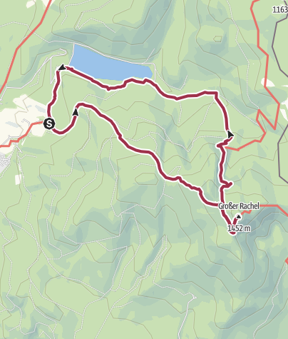 Karte / Großen Rachel via Frauenauer Rachelsteig