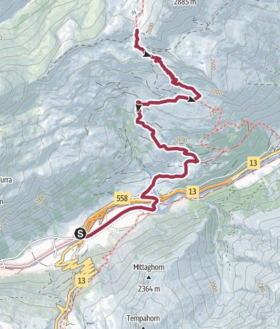 Karte / Valserberg, 2504 m