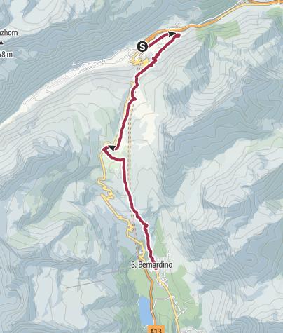 Karte / Passo del San Bernardino, 2065 m