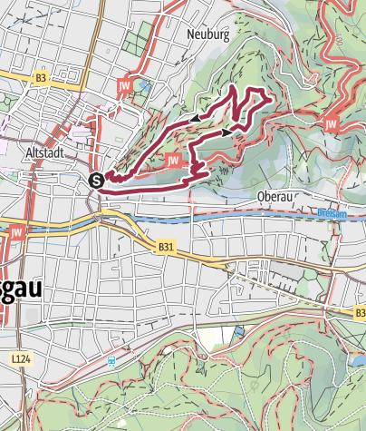 Karte / Vom Schwabentor zum Schlossberg