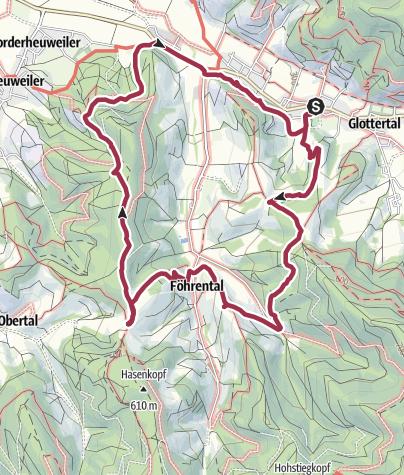 Karte / Von Glottertal zum Wildtaler Eck