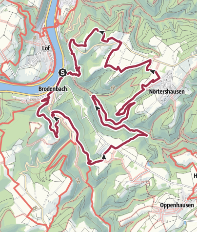 Karte / Bergschluchtenpfad Ehrenburg