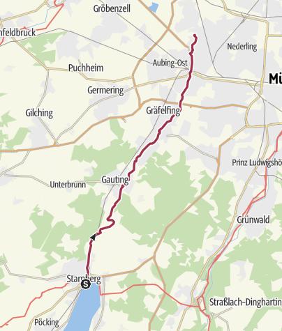 Karte / Starnberg – Würmtal – München