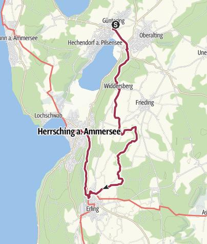 Karte / Hechendorf – Andechs (1)
