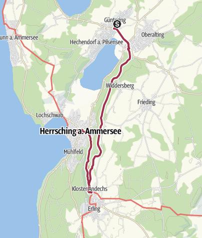 Karte / Hechendorf – Andechs (2)
