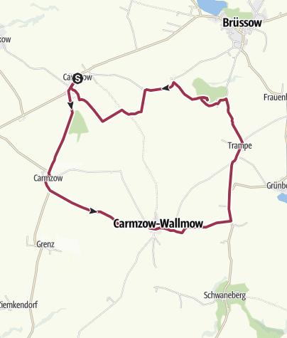 Karte / Nach Carmzow, Cremzow und Wallmow