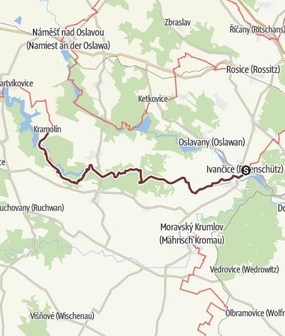 Map / Südmährischer JW: Ivančice - Kramolín