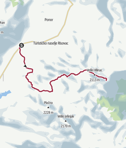 Map / The Natural Adventure - Via Dinarica custom, Stage 3