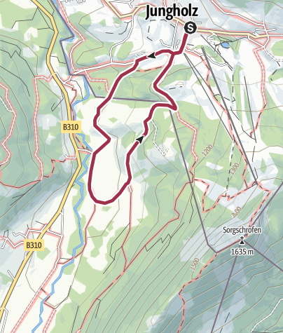 Karte / Rundweg Jungholz über die Sorg Alpen