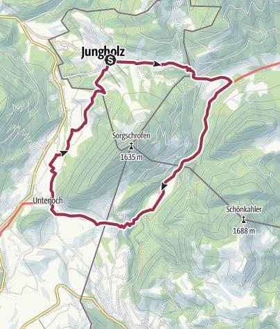 Karte / Von Jungholz rund um den Sorgschrofen