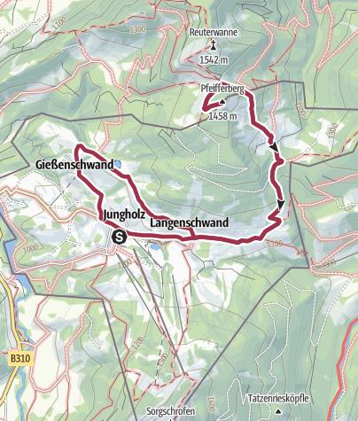 Karte / Von Jungholz auf den Pfeifferberg