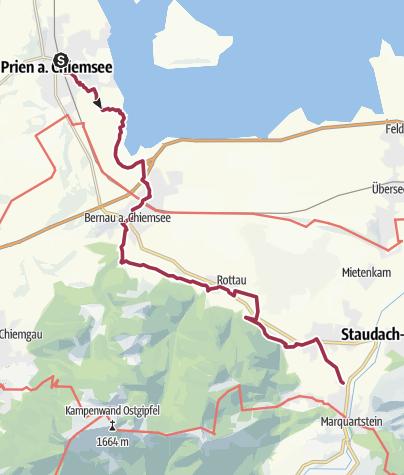 Prien Am Chiemsee Karte.Wanderung Von Prien Am Chiemsee Nach Marquartstein Wanderung