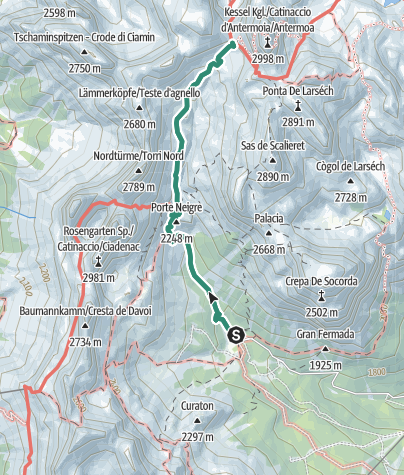 Cartina / Trekking al Rifugio Passo Principe