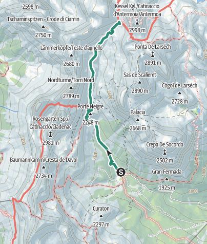 Map / Wanderung zur Grasleitenpasshütte (Rifugio Passo Principe)