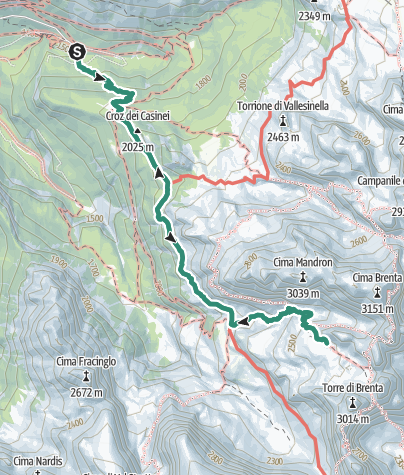 Karte / Wanderung zur Alimonta-Hütte (Rifugio Alimonta)