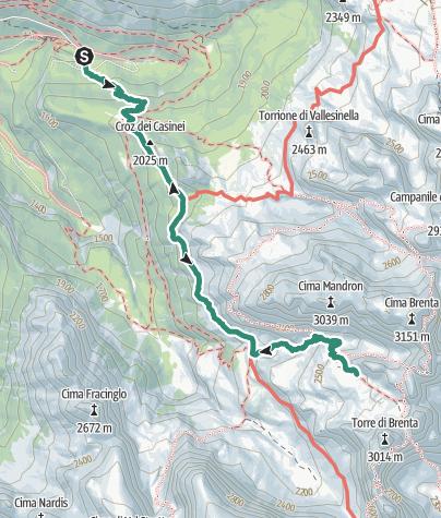 Cartina / Trekking al Rifugio Alimonta