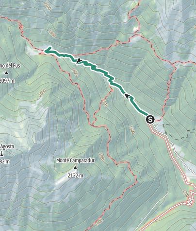 Cartina / Trekking al Rifugio Trivena