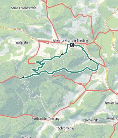 Karte / Von Altenmarkt aufs alpine Hocheck, 1.037m