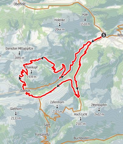 Map / Au-Schoppernau | Damüls Tour
