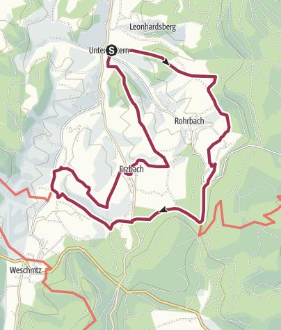 Karte / Reichelsheim: Erz- und Steinwanderweg – Auf den Spuren alter Bergarbeiter