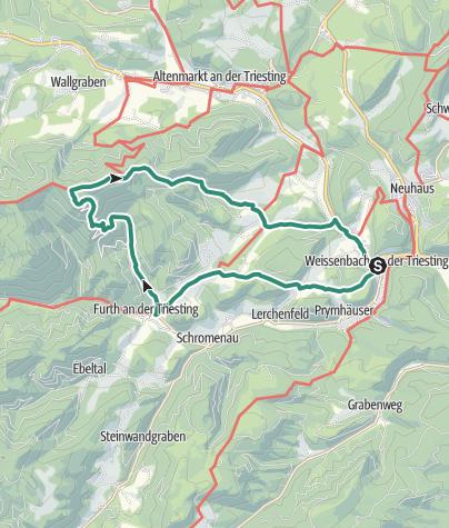 Karte / Von Weissenbach aufs alpine Hocheck, 1.037m