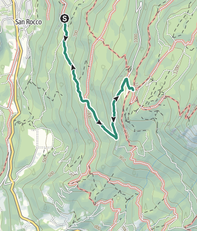 Map / Rifugio P. Prati (Bindesi) – Rifugio Maranza