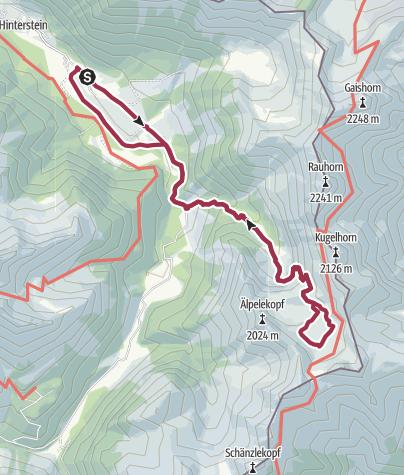 Karte / Zum Schrecksee