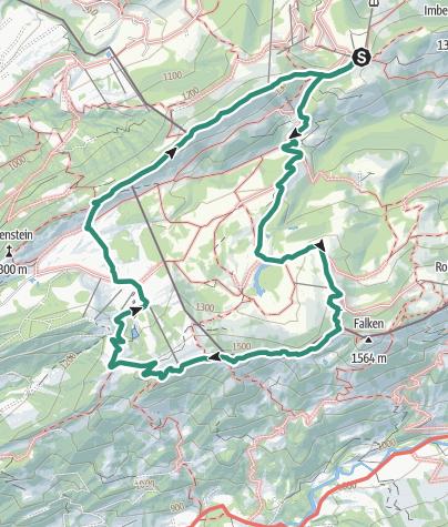 地图 / Überschreitung des Hohen Häderich