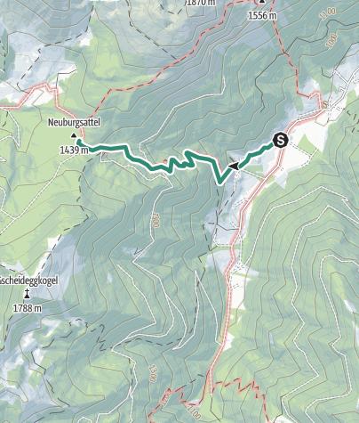 Karte / Von Radmer auf den Neuburgsattel