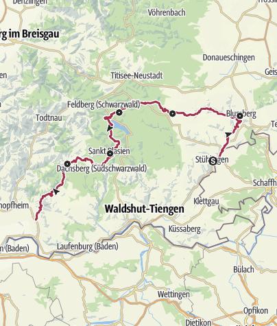 Karte / Schluchtensteig Schwarzwald