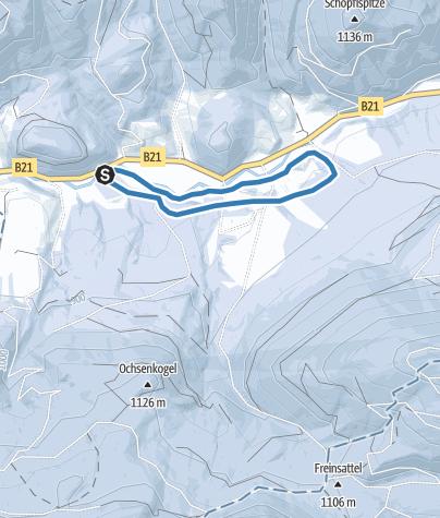Karte / Loipe Oberes Halltal (Klassisch)