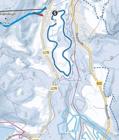 Karte / Erlaufloipe Mitterbach (Klassisch und Skating)