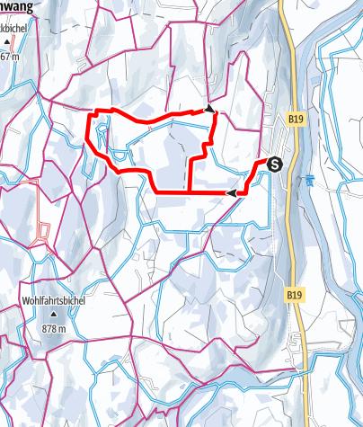 Karte / Winterwanderweg Sonnenplateau zwischen Ofterschwang und Untermühlegg