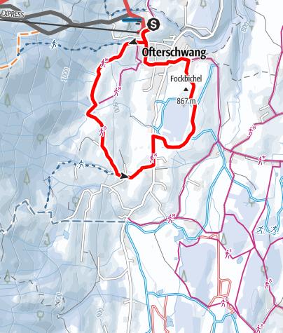 Karte / Hochwiesweg Runde - Winterwanderung in Ofterschwang