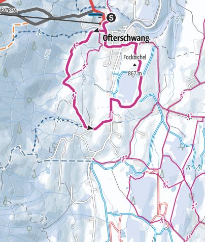 Map / Hochwiesweg Runde - Winterwanderung in Ofterschwang